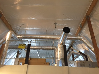 HVAC with insulation