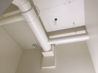 Heating Ducts Painted